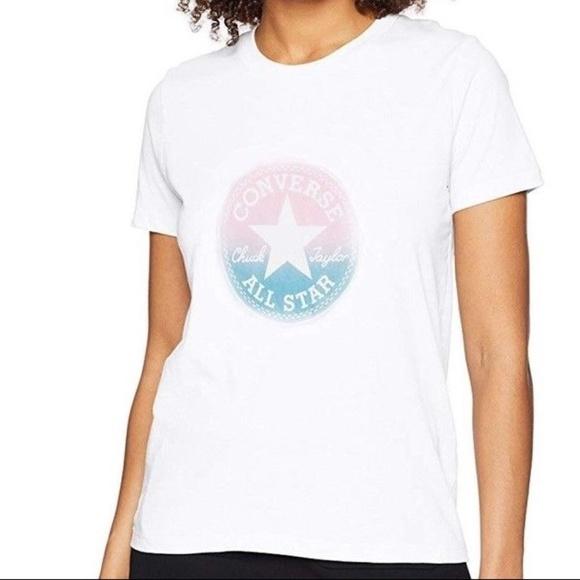 Converse Women's Ombre Chuck Patch Short Sleeve Crew T Shirt